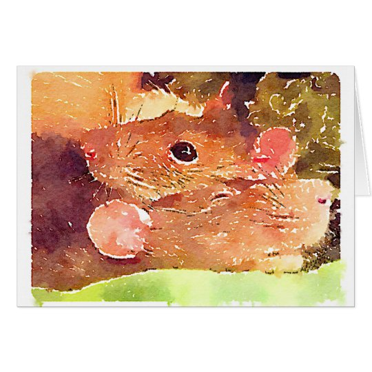 Beautiful Rats Greeting Card