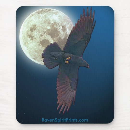 BEAUTIFUL RAVEN Gifts Mouse Pad