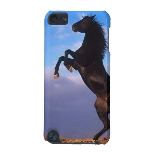 Beautiful rearing black horse ipod touch 5g case
