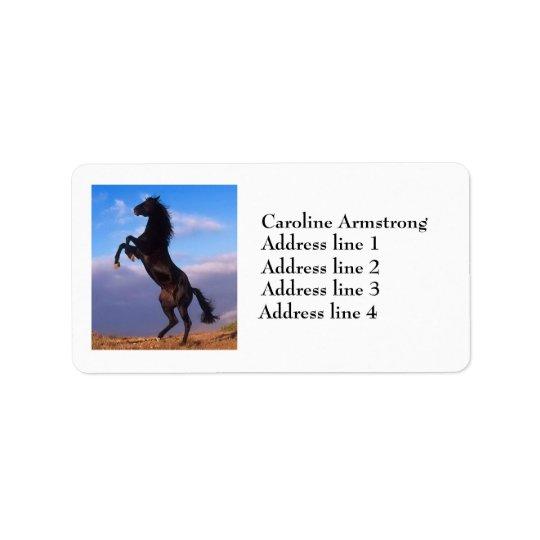Beautiful rearing horse custom address labels