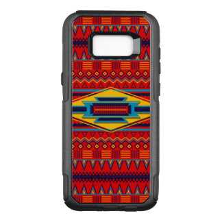 Beautiful Red African Textile Pattern OtterBox Commuter Samsung Galaxy S8+ Case