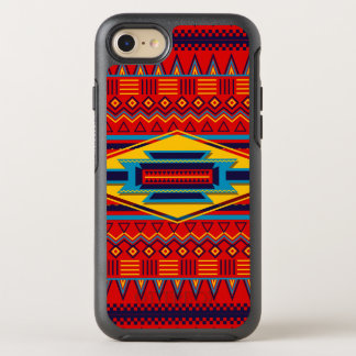 Beautiful Red African Textile Pattern OtterBox Symmetry iPhone 7 Case