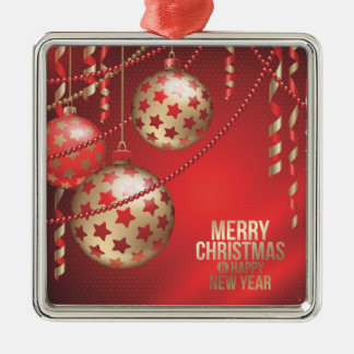 Beautiful Red and Golden Christmas Balls Christmas Ornament