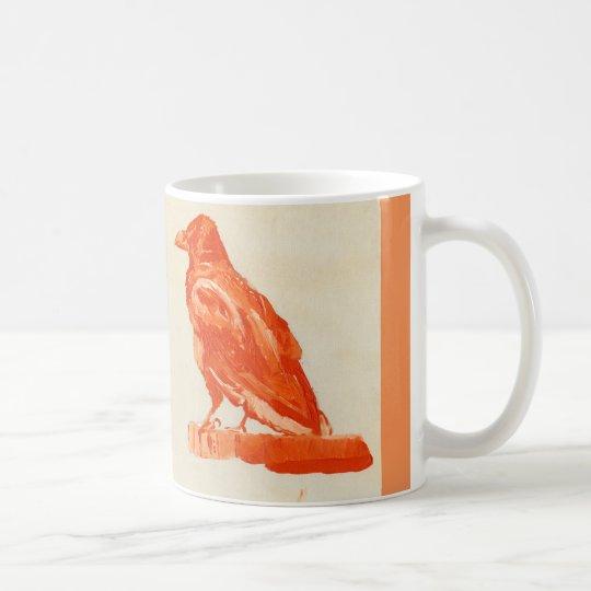Beautiful red bird mug