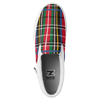 Beautiful Red, Blue, green tartan plaid design Slip-On Shoes