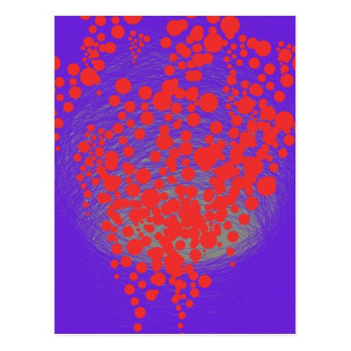 beautiful red bubble baloon postcards