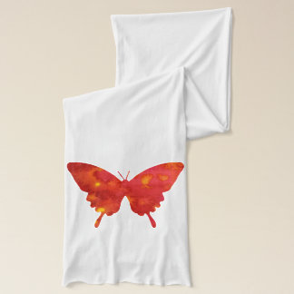 Beautiful red butterfly on jersey scarf