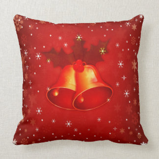 Beautiful Red Christmas Bells Elegant Christmas Cushions