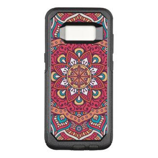 Beautiful red Flower Mandala OtterBox Commuter Samsung Galaxy S8 Case