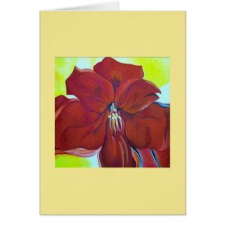 Beautiful red flower notecard