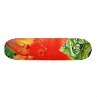Beautiful Red Flowers In Garden Custom Skateboard