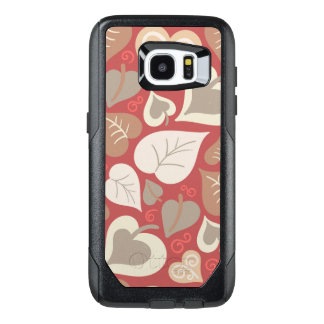 Beautiful red Flowers Swirl abstract vectror art OtterBox Samsung Galaxy S7 Edge Case
