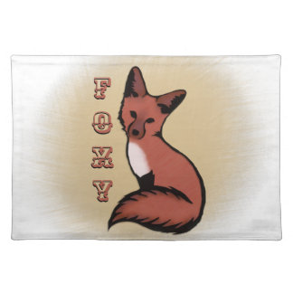 Beautiful Red Foxy Fox Placemat