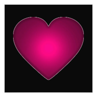 Beautiful Red Heart Photographic Print