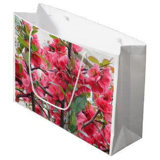 Beautiful Red Japanese Quince Large Gift Bag