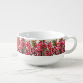 Beautiful Red Japanese Quince Soup Mug