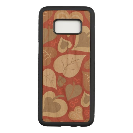 beautiful red love hearts leaves carved samsung galaxy