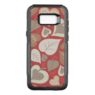 beautiful red love hearts leaves OtterBox commuter samsung galaxy s8+ case