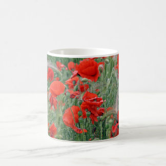 beautiful red poppies mug