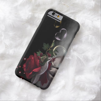 Beautiful Red Rose and Hearts iPhone 6 Case Barely There iPhone 6 Case