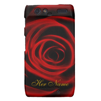 Beautiful red rose droid RAZR cover