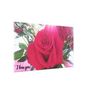Beautiful Red Rose Romantic Canvas Print
