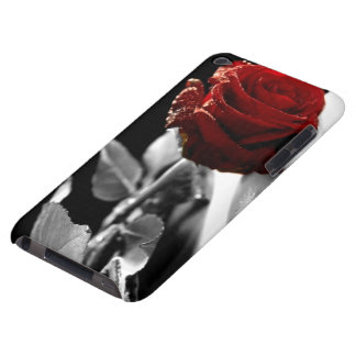 Beautiful Red Rose with Black & White background iPod Touch Case
