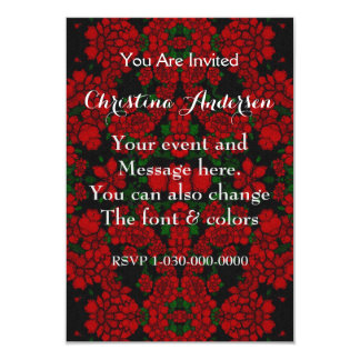 Beautiful Red Roses Abstract 9 Cm X 13 Cm Invitation Card