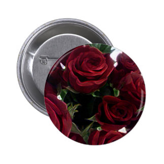 BEAUTIFUL RED ROSES 6 CM ROUND BADGE
