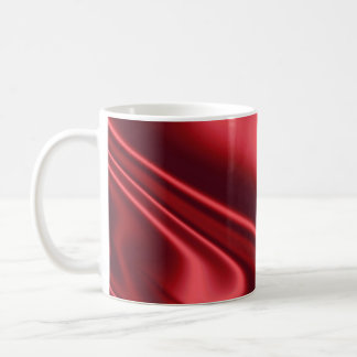 Beautiful Red Satin Basic White Mug