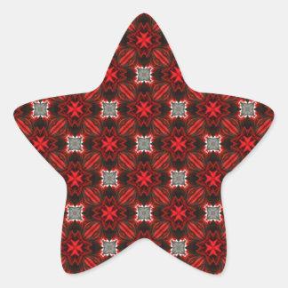 Beautiful Red Seamless Pattern Star Stickers