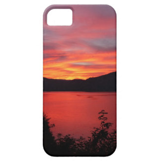 Beautiful red sunrise over a lake iPhone 5 case
