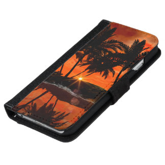 Beautiful red sunset iPhone 6 wallet case