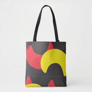 Beautiful red yellow pattern  bag