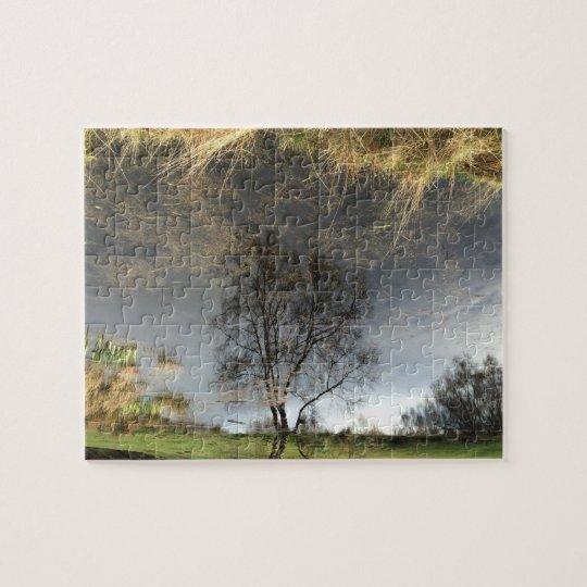 Beautiful Reflection Photography Tree Jigsaw Jigsaw Puzzle