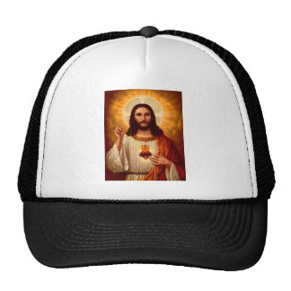Beautiful religious Sacred Heart of Jesus image Cap