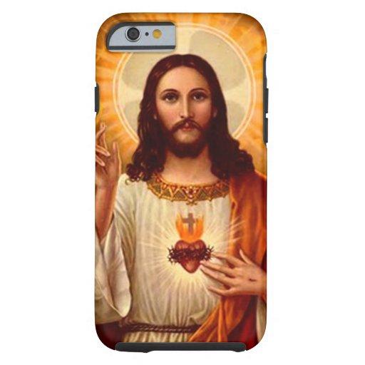 Beautiful religious Sacred Heart of Jesus image iPhone 6 Case