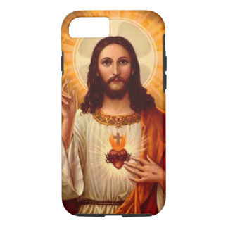 Beautiful religious Sacred Heart of Jesus image iPhone 7 Case