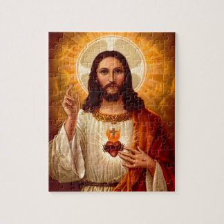Beautiful religious Sacred Heart of Jesus image Puzzle