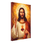 Beautiful religious Sacred Heart of Jesus image Stretched Canvas Prints