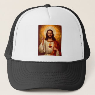 Beautiful religious Sacred Heart of Jesus image Trucker Hat