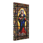 Beautiful Religious Sacred Heart of Virgin Mary Gallery Wrapped Canvas