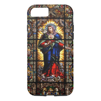 Beautiful Religious Sacred Heart of Virgin Mary iPhone 8/7 Case