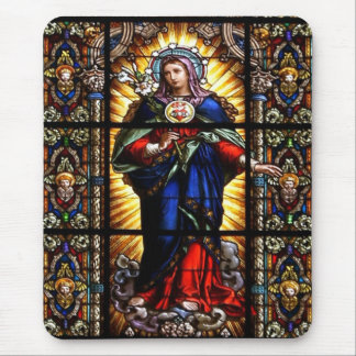 Beautiful Religious Sacred Heart of Virgin Mary Mouse Mat