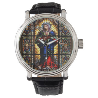 Beautiful Religious Sacred Heart of Virgin Mary Watch
