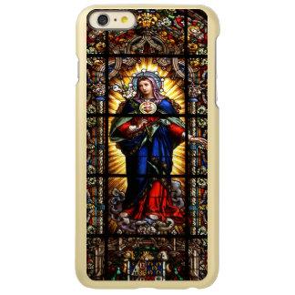 Beautiful Religious Sacred Heart of Virgin Mary Incipio Feather® Shine iPhone 6 Plus Case