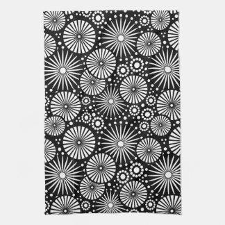 Beautiful retro black and white Towel