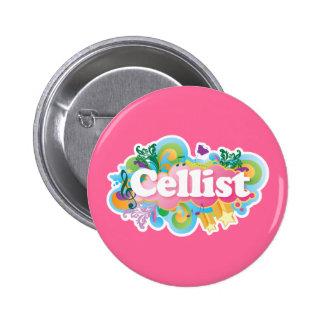 Beautiful Retro Cellist Music Gift 6 Cm Round Badge