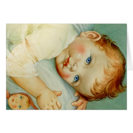 beautiful retro newborn/birthday cards