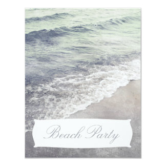 Beautiful Retro Ocean Beach Party Invitation